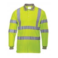 Marškinėliai Polo ilgomis rankovėmis signaliniai Portwest S277