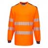 Marškinėliai signaliniai PORTWEST T185 ilgomis rankovėmis