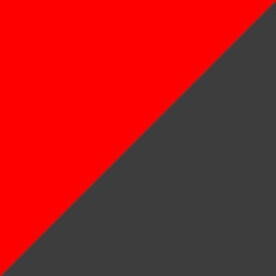 Raudona su pilka