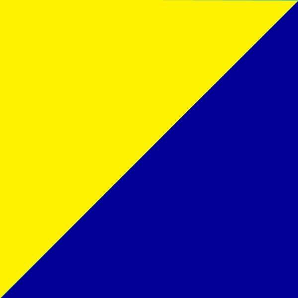 Geltona su tamsiai mėlyna