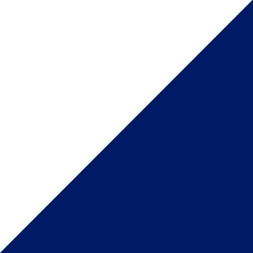 Balta su mėlyna