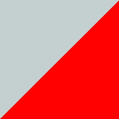Pilka su raudona